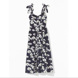 Urban Outfitters Positano Tie Shoulder Midi Dress